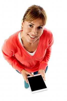 kobieta tablet z rankingu pożyczek